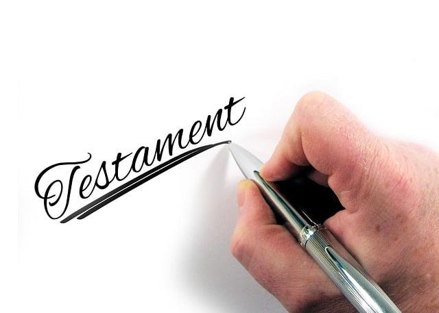 rédiger son testament