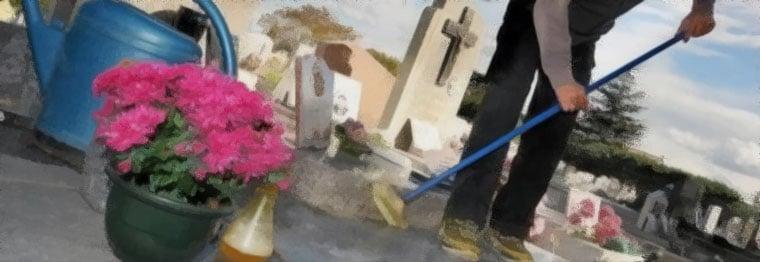 entretien nettoyage cimetière