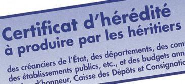 Certificat D Heredite Obtention Role Et Fonction Du Certificat