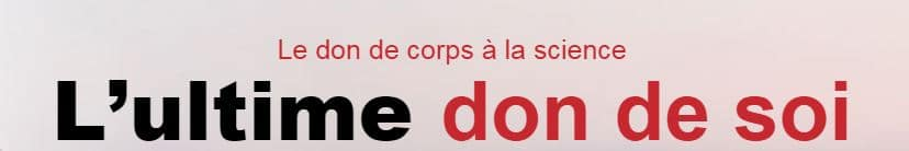 don corps à la science