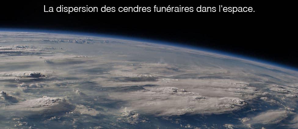 dispersion cendres espace