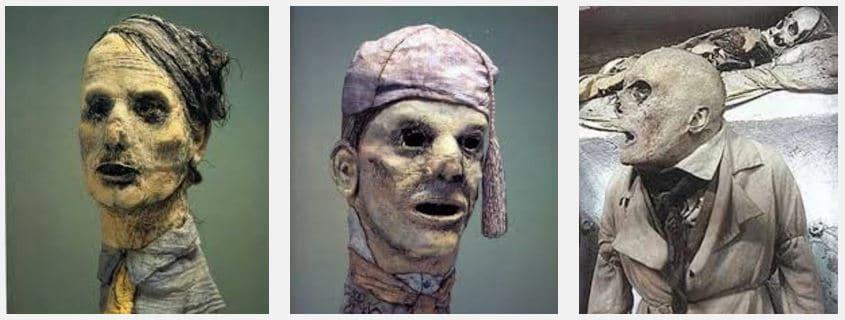 Masque de Werner Strub - série chœur des momies de Palerme (tissu) - ©photo René Funk
