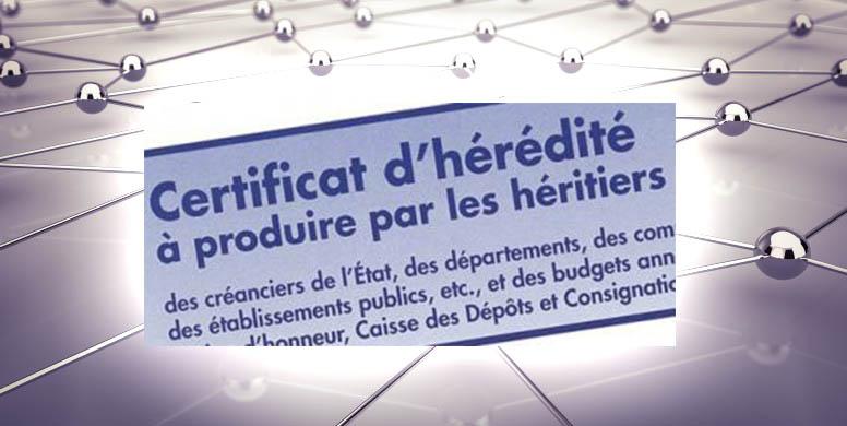 Certificat Heredite Illustration