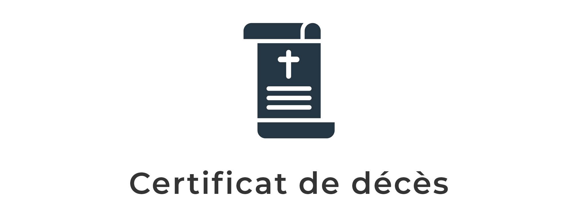 certificat de deces illustration