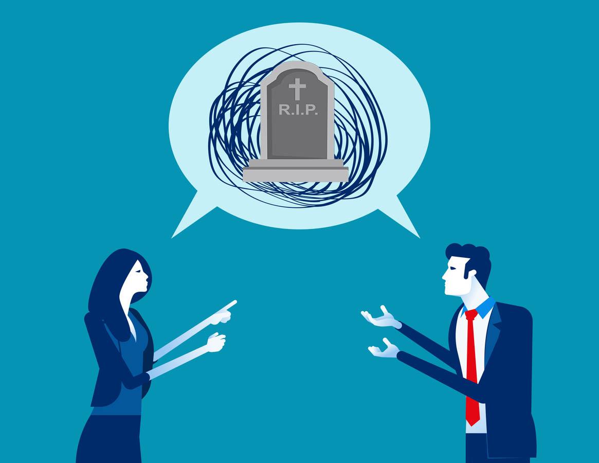 desaccord organisation obsèques