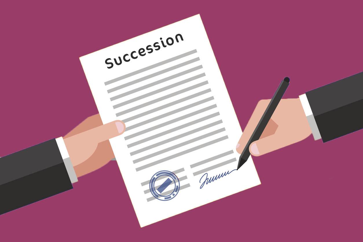 illustration papiers succession