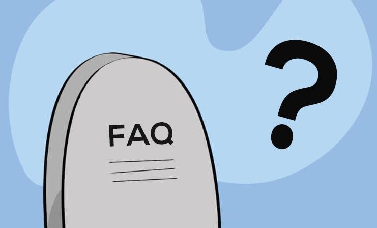 Illustration Foire Aux Question Liees Au Deces