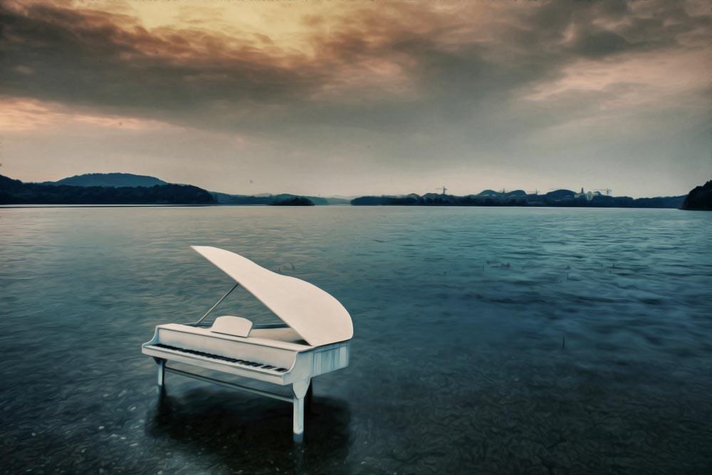 Piano Illustrant Chanson Enterrement Shutterstock 642341029